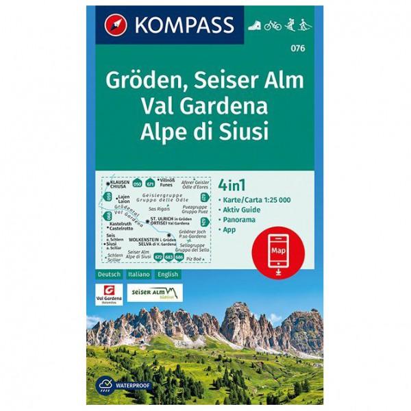 Kompass - Gröden, Seiser Alm, Val Gardena, Alpe di Siusi - Hiking map