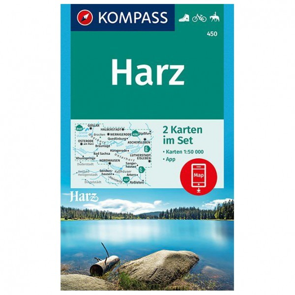 Kompass - Harz - Hiking map
