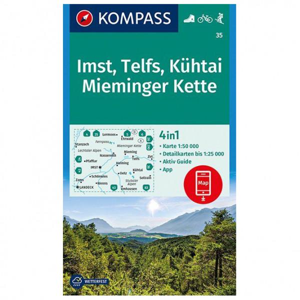 Kompass - Imst, Telfs, Kühtai, Mieminger Kette - Wandelkaarten