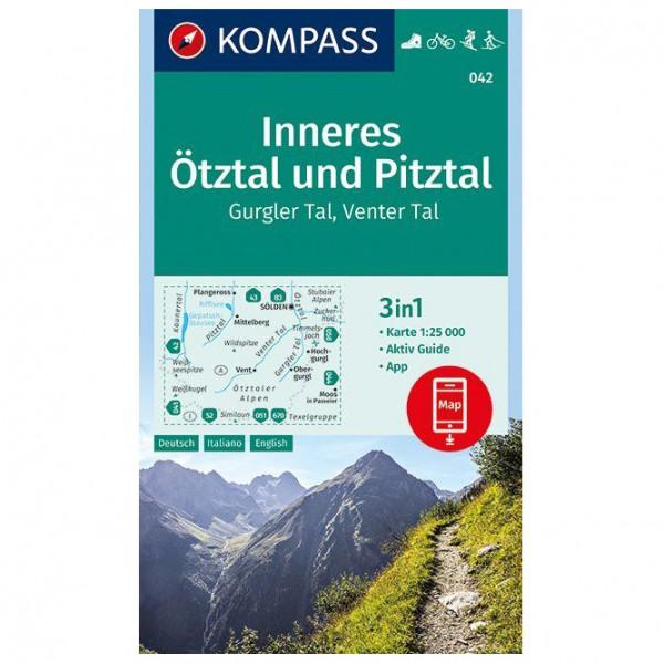 Kompass - Inneres Ötztal und Pitztal, Gurgler Tal - Vandrekort
