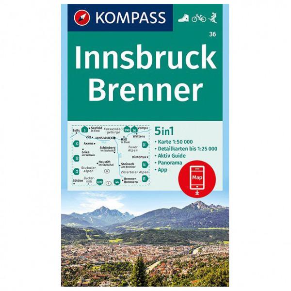 Kompass - Innsbruck, Brenner - Vandrekort