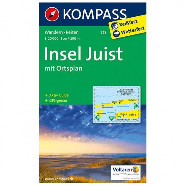 Kompass - Insel Juist - Vandringskartor