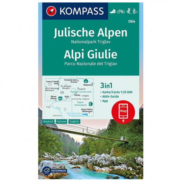 Kompass - Julische Alpen, Nationalpark Triglav, Alpi Giulie - Vaelluskartat