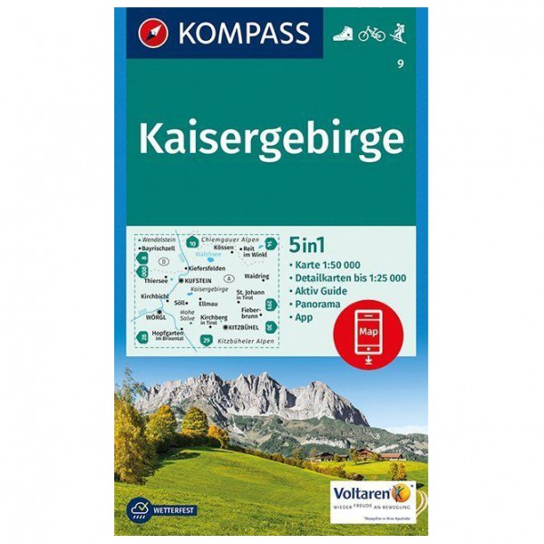 Kompass - Kaisergebirge Karte - Hiking map