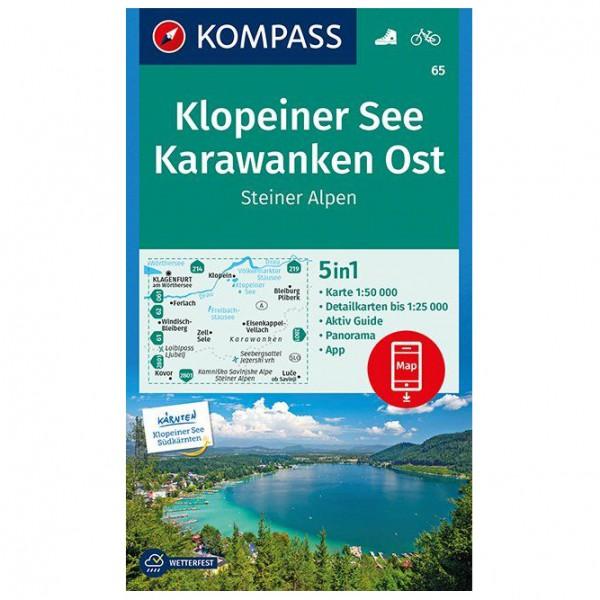 Kompass - Klopeiner See, Karawanken Ost, Steiner Alpen - Wanderkarte