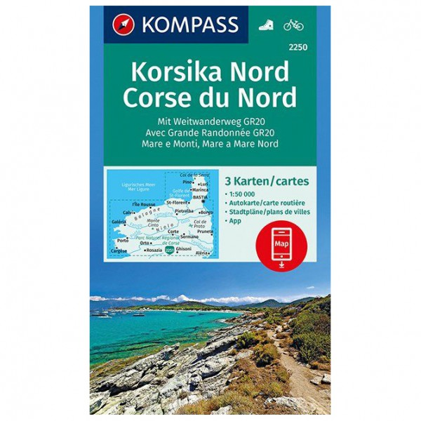 Kompass - Korsika Nord, Corse du Nord, Weitwanderweg GR20 - Vandringskartor