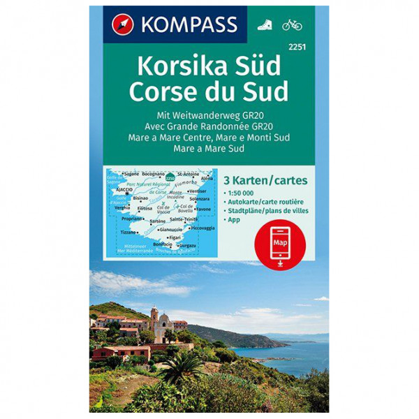 Kompass - Korsika Süd, Corse du Sud, Weitwanderweg GR20 - Vaelluskartat