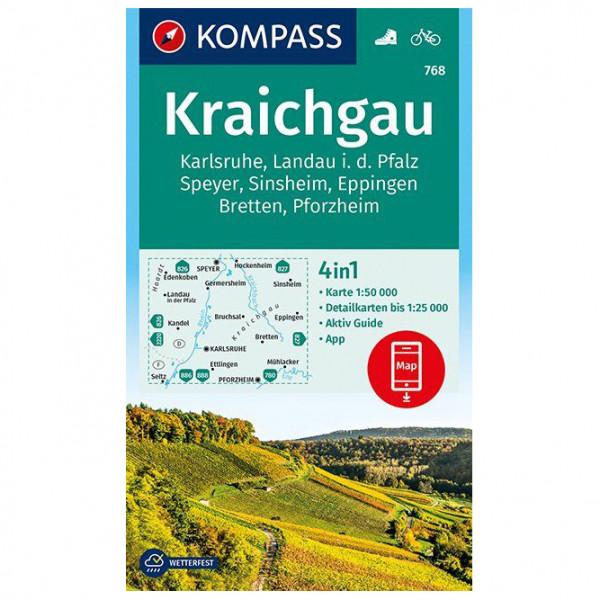 Kompass - Kraichgau, Karlsruhe, Landau - Wandelkaart
