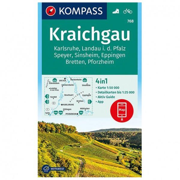Kompass - Kraichgau, Karlsruhe, Landau - Wanderkarte