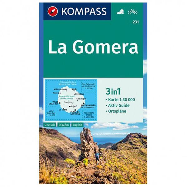 Kompass - La Gomera Karte - Mapa de senderos