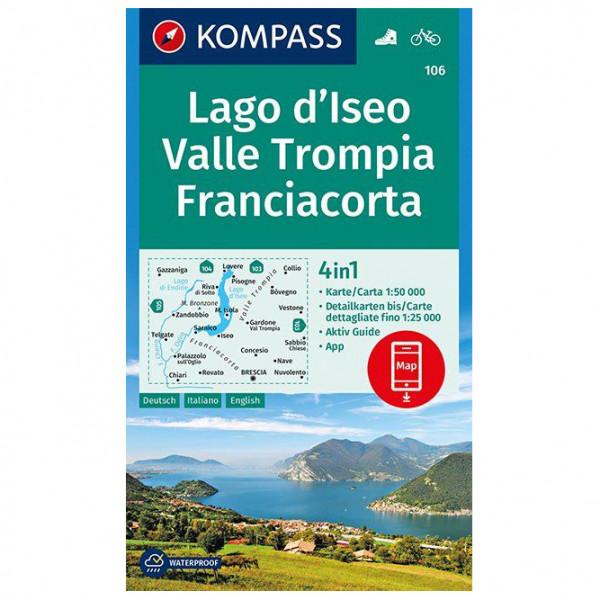 Kompass - Lago d'Iseo, Valle Trompia, Franciacorta - Mapa de senderos