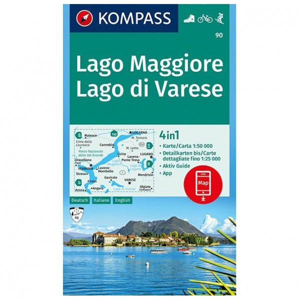Kompass - Lago Maggiore, Lago di Varese - Mapa de senderos