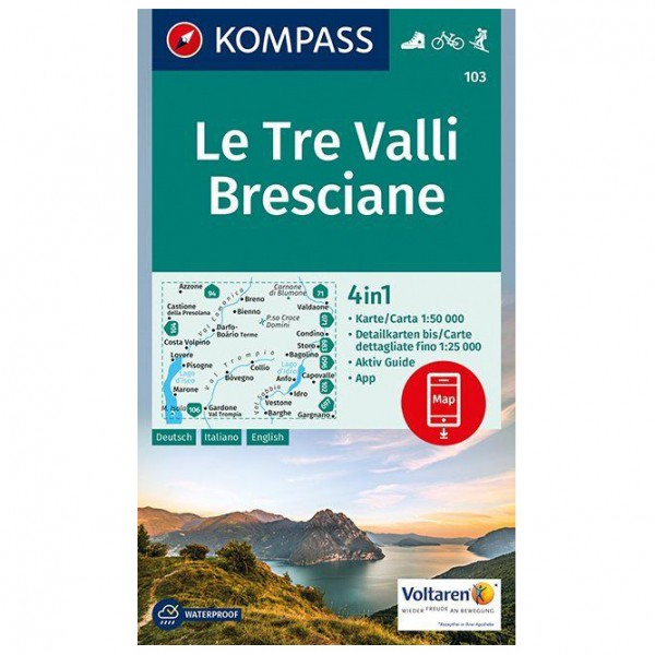 Kompass - Le Tre Valli Bresciane - Wandelkaarten