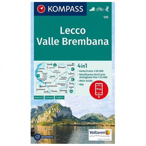 Kompass - Lecco, Valle Brembana - Vaelluskartat