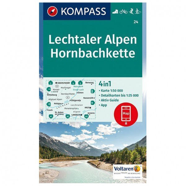 Kompass - Lechtaler Alpen, Hornbachkette - Vandringskartor