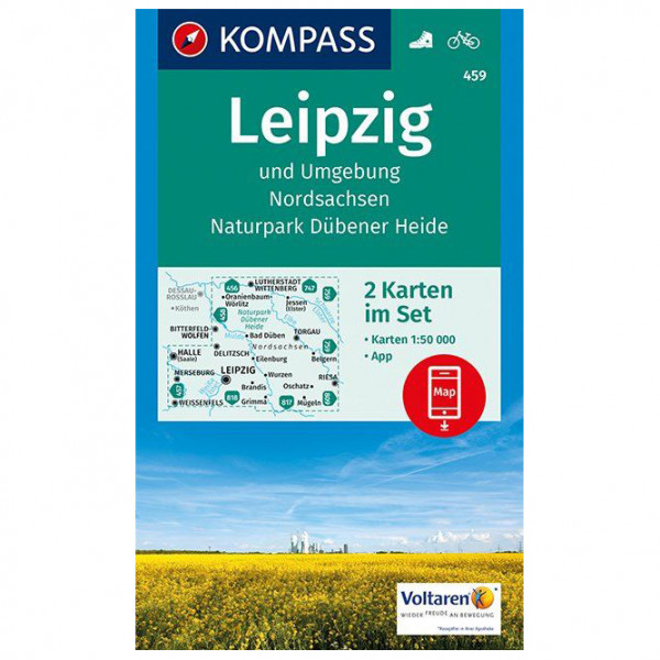 Kompass - Leipzig und Umgebung, Nordsachsen - Mapa de senderos