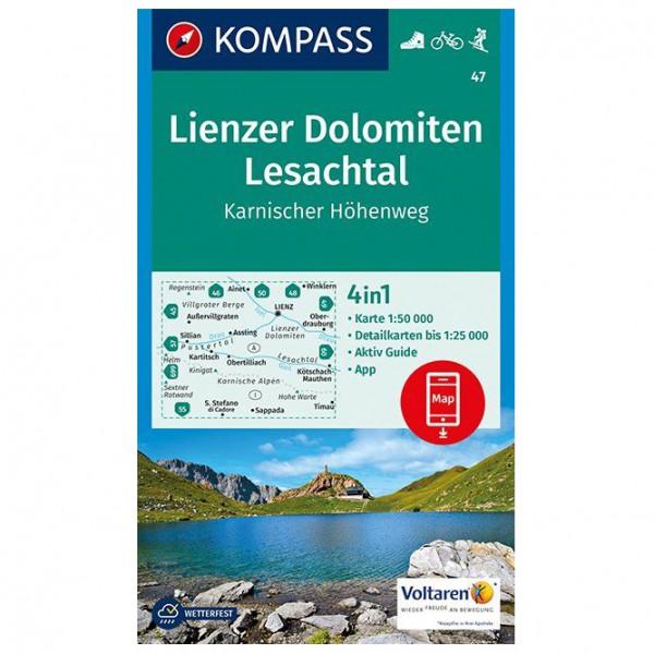 Kompass - Lienzer Dolomiten, Lesachtal, Karnischer Höhenweg - Wanderkarte