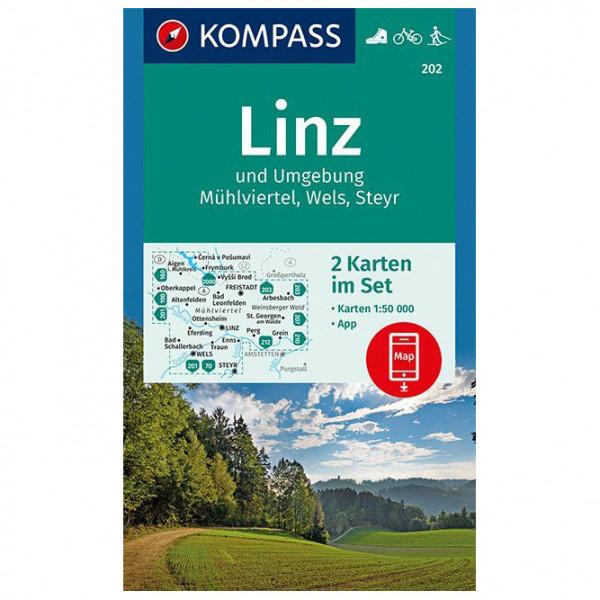 Kompass - Linz und Umgebung, Mühlviertel, Wels, Steyr - Turkart