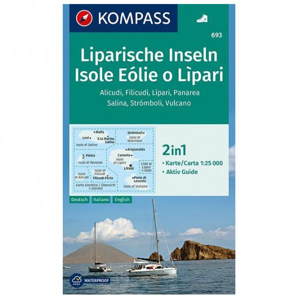 Kompass - Liparische Inseln, Isole Eólie o Lìpari, Alicudi - Hiking map