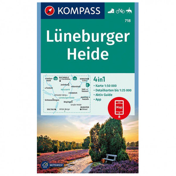 Kompass - Lüneburger Heide - Vandrekort