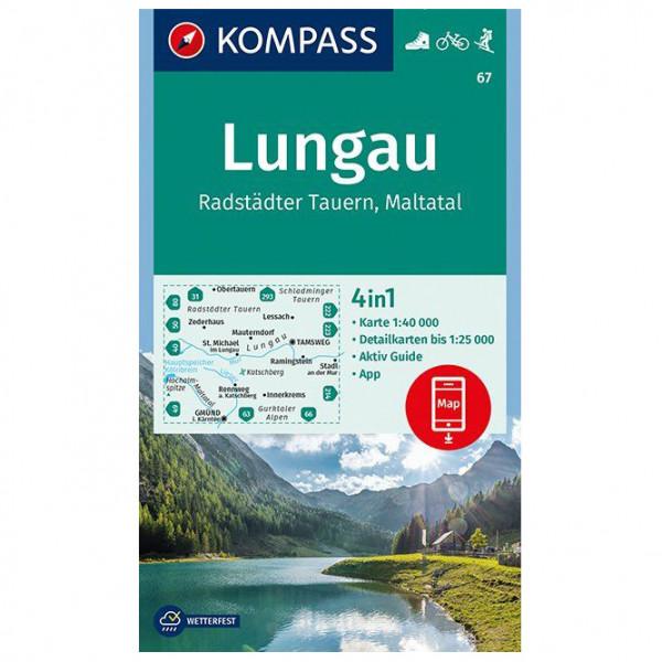 Kompass - Lungau, Radstädter Tauern, Maltatal - Vandrekort