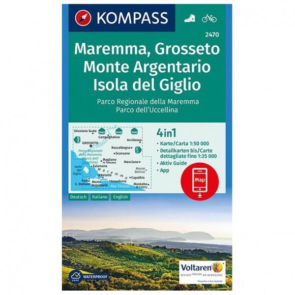 Kompass - Maremma, Grosseto, Monte Argentario - Hiking map