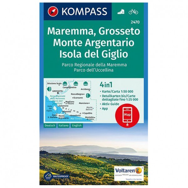 Kompass - Maremma, Grosseto, Monte Argentario - Wanderkarte