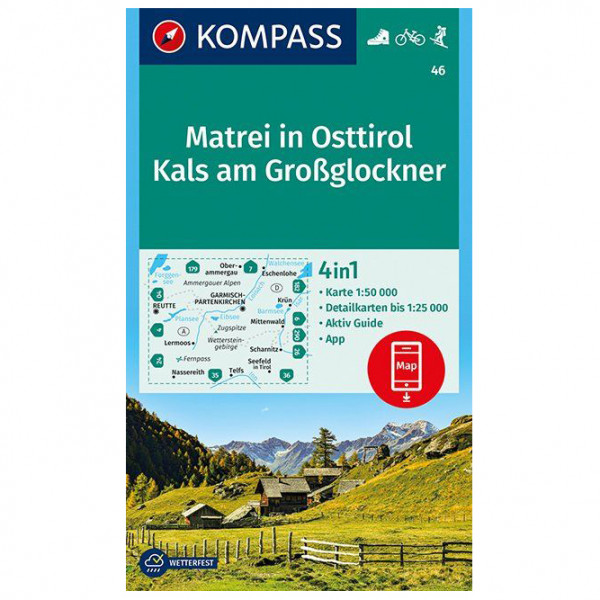 Kompass - Matrei in Osttirol, Kals am Großglockner - Vandrekort