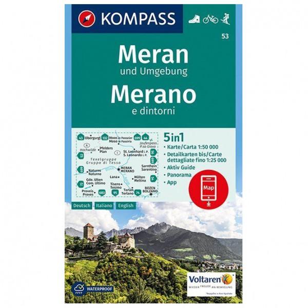 Kompass - Meran und Umgebung /Merano e dintorni - Hiking map