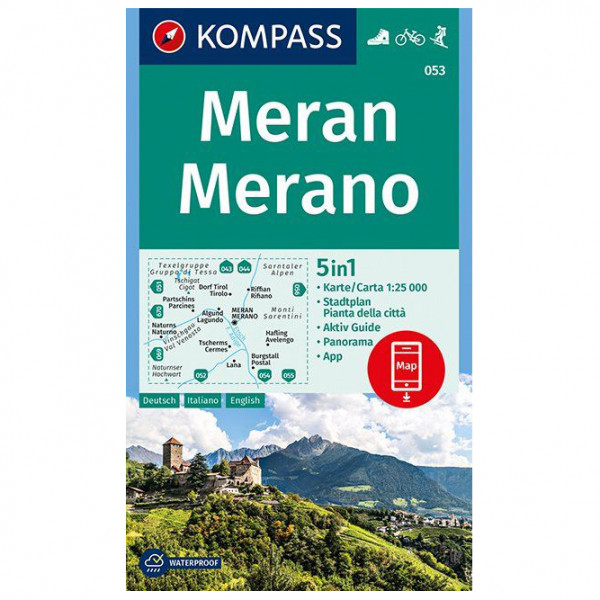 Kompass - Meran, Merano - Wandelkaart