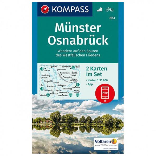Kompass - Münster, Osnabrück - Vandrekort