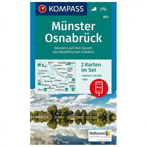 Kompass - Münster, Osnabrück - Wandelkaart