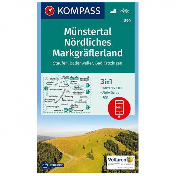 Kompass - Münstertal, Nördliches Markgräflerland - Wanderkarte
