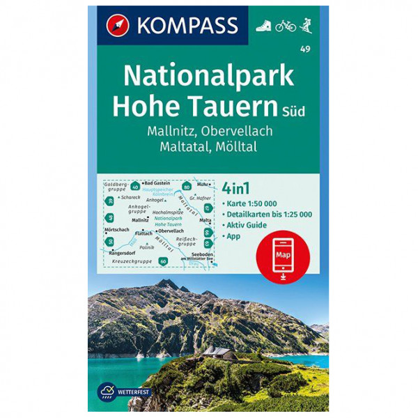 Kompass - Nationalpark Hohe Tauern Süd, Mallnitz - Wandelkaart