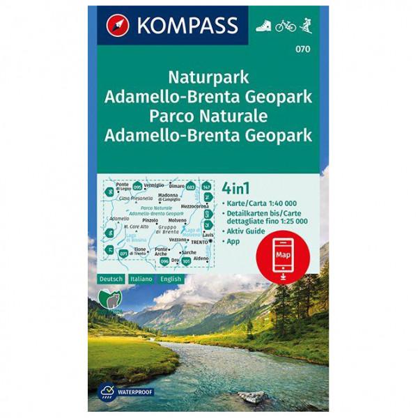 Kompass - Naturpark Adamello-Brenta Geopark - Mapa de senderos