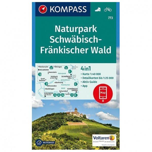 Kompass - Naturpark Schwäbisch-Fränkischer Wald Karte - Vandrekort