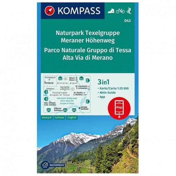 Kompass - Naturpark Texelgruppe, Meraner Höhenweg - Vaelluskartat