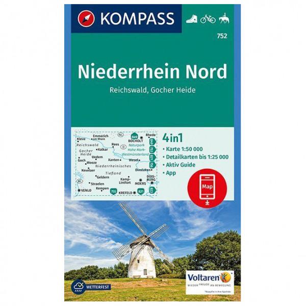 Kompass - Niederrhein Nord, Reichswald, Gocher Heide - Carte de randonnée