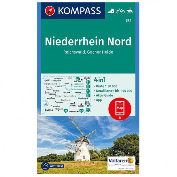Kompass - Niederrhein Nord, Reichswald, Gocher Heide - Vandringskartor