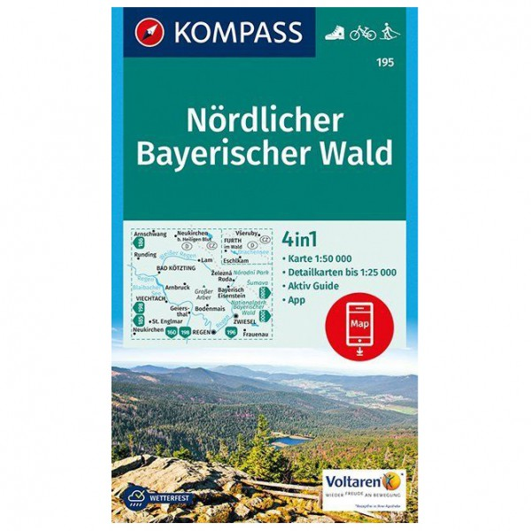Kompass - Nördlicher Bayerischer Wald - Vaelluskartat
