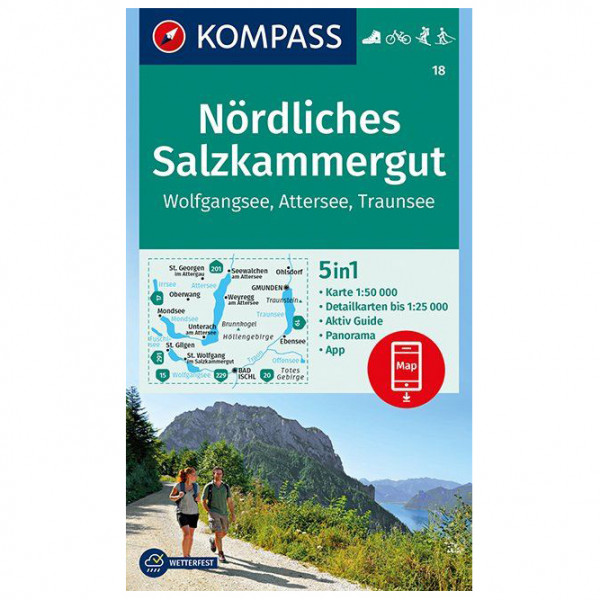 Kompass - Nördliches Salzkammergut, Wolfgangsee, Attersee - Hiking map