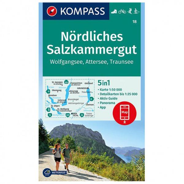 Kompass - Nördliches Salzkammergut, Wolfgangsee, Attersee - Vandringskartor