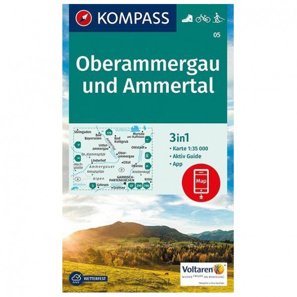 Kompass - Oberammergau und Ammertal - Hiking map