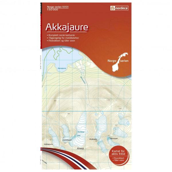 Nordeca - Wander-Outdoorkarte: Akkajaure 1/50 - Hiking map