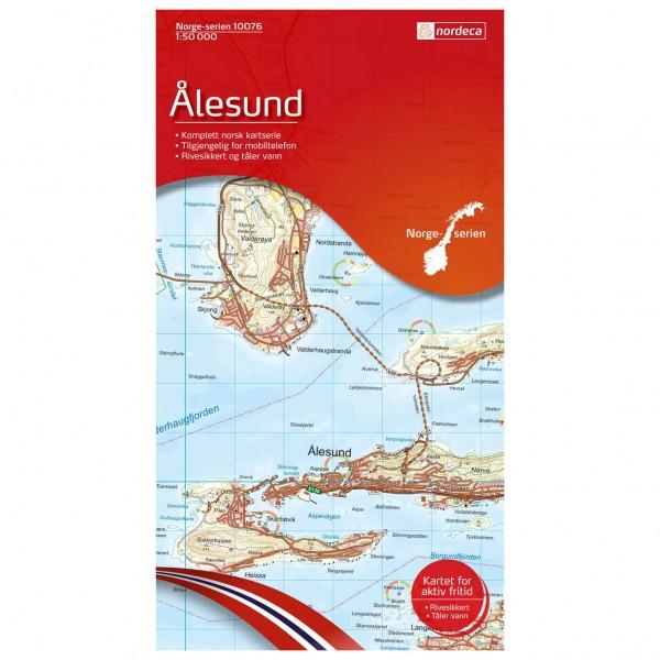 Nordeca - Wander-Outdoorkarte: Ålesund 1/50 - Wandelkaart