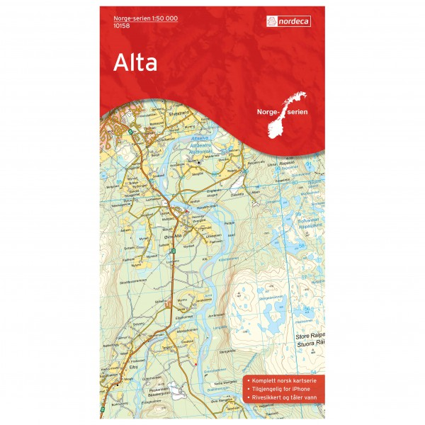 Nordeca - Wander-Outdoorkarte: Alta 1/50 - Hiking map