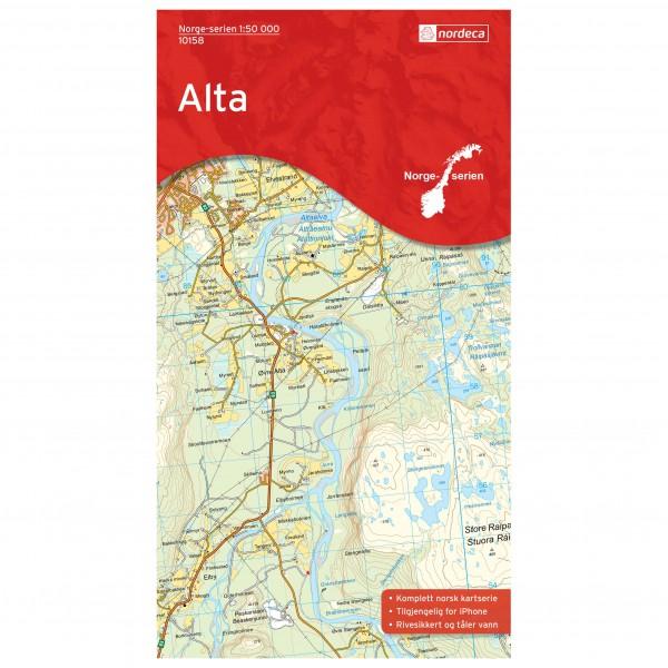 Nordeca - Wander-Outdoorkarte: Alta 1/50