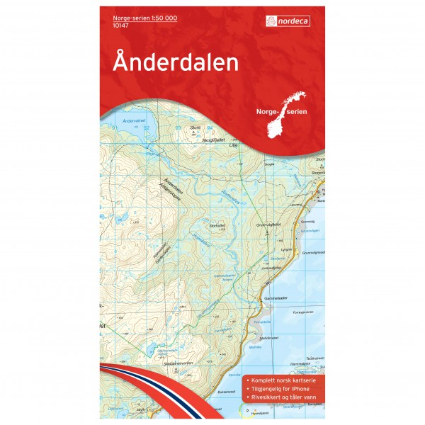 Nordeca - Wander-Outdoorkarte: Anderdalen 1/50 - Hiking map