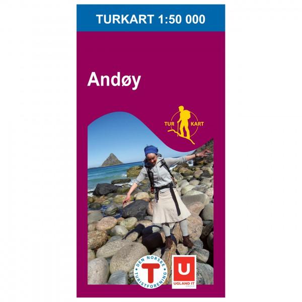 Nordeca - Wander-Outdoorkarte: Andøy 1/50 - Vandringskartor