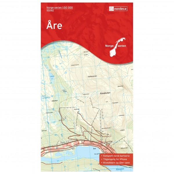 Nordeca - Wander-Outdoorkarte: Are 1/50 - Vandringskartor